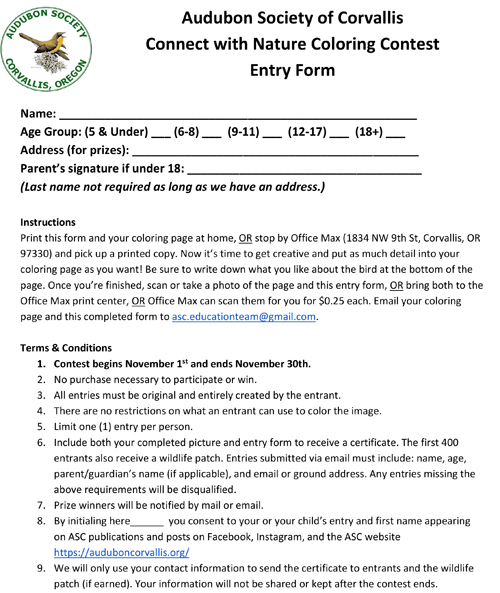 Entry form & rules